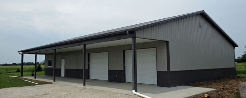 Lined and insulated shops gallery iowa and illinois for Design your own pole barn online