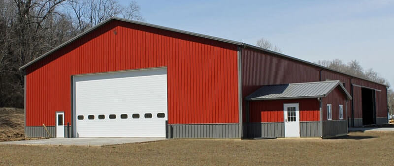 Lined shop machine shed combo gallery iowa and illinois for Equipment shed