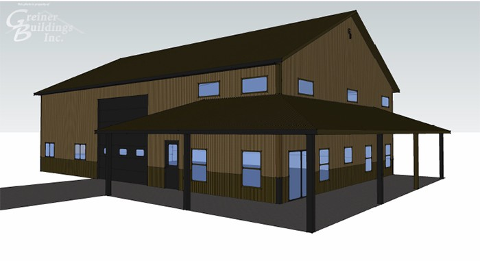 3d and 2d drawing in iowa and illinois greiner buildings for Pole barn design program