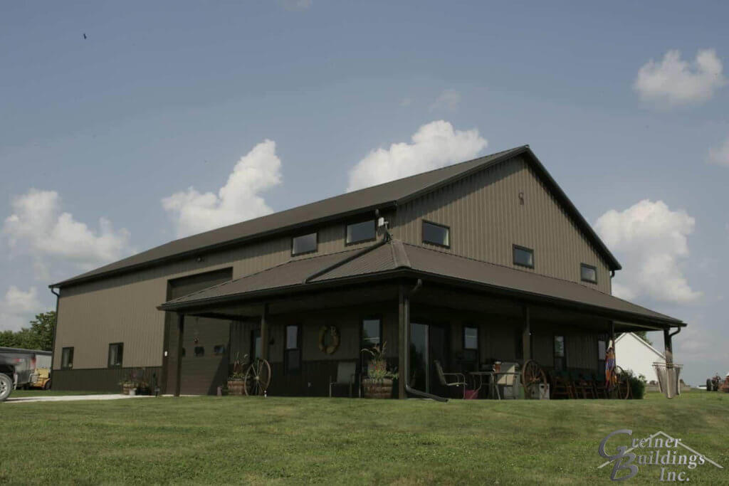 Shome shop home the ultimate pole barn with living for Pole barn with living quarters prices