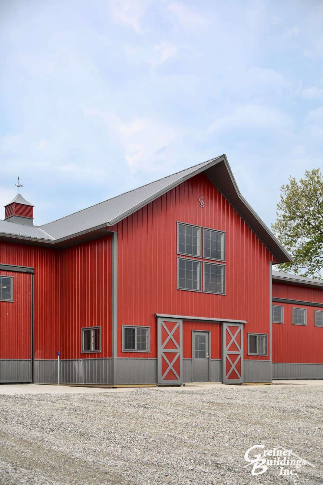 Greiner buildings ainsworth iowa metal pole barns for Metal frame barn
